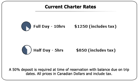 Charters Rates 2008 for HaidaFishing.com. For an Ultimate Fishing Experience.